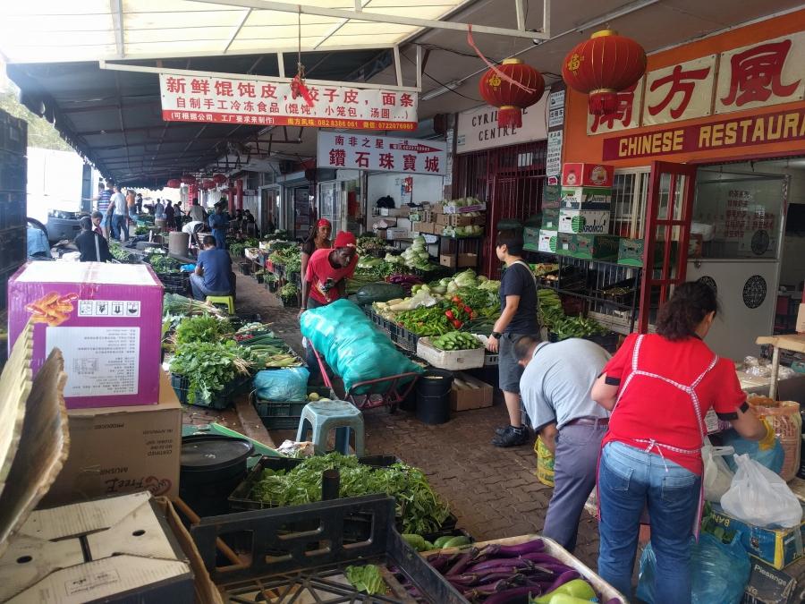 Chinese market in Johannesburg