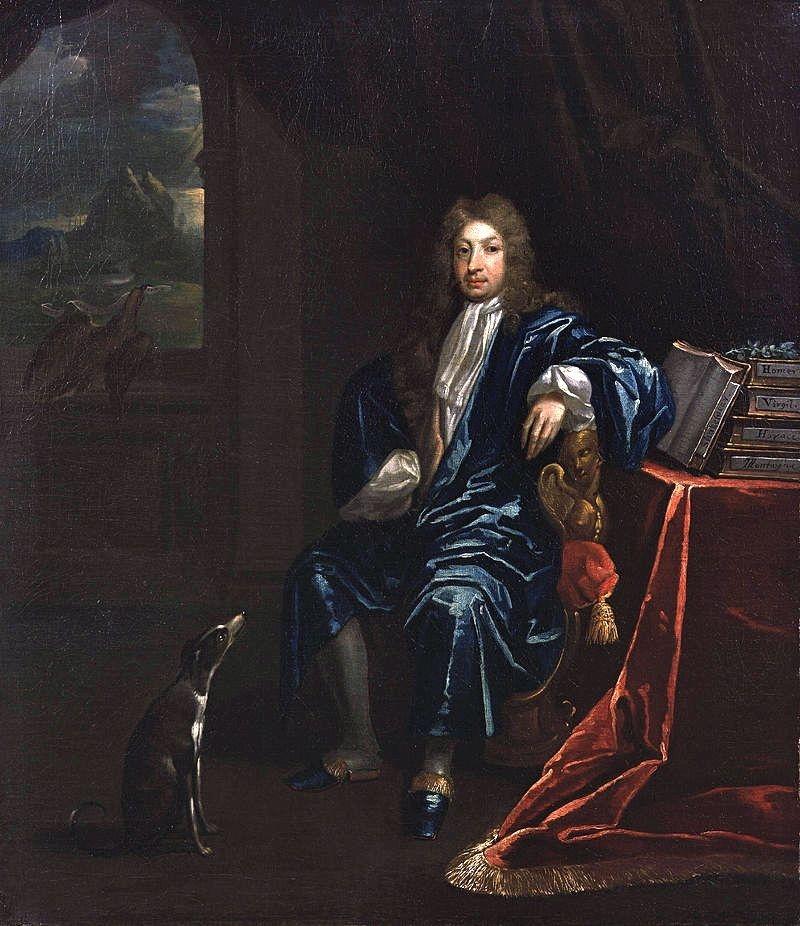 Portrait of John Dryden by James Maubert, circa 1695