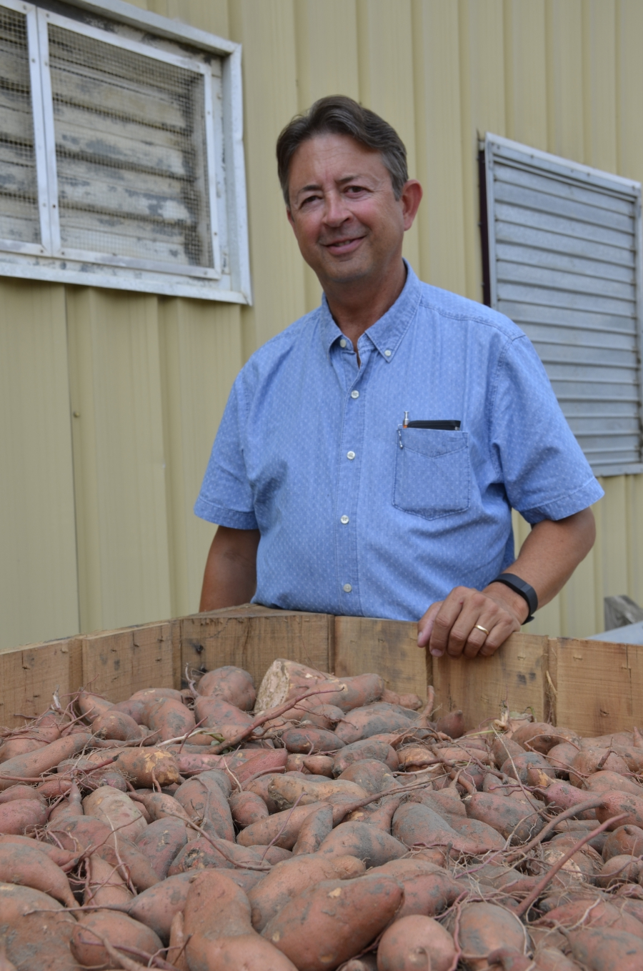 Johnny Barnes runs the largest sweet potato farm in the United States.
