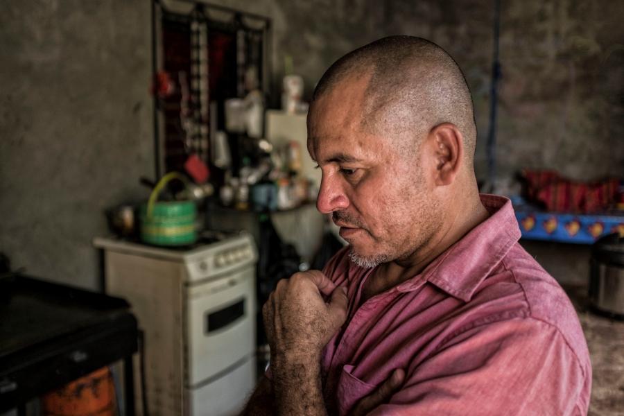 Waldo (Hernandez) Martinez at home in Sesuntepeque, El Salvador.