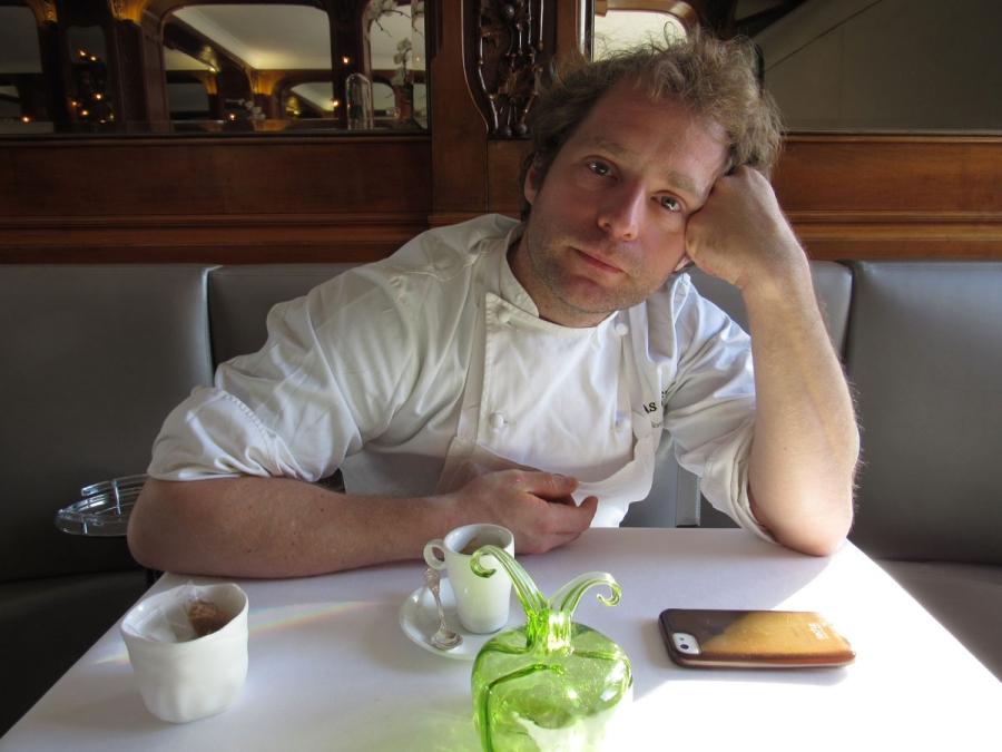 Lucas Carton head chef Julien Dumas.