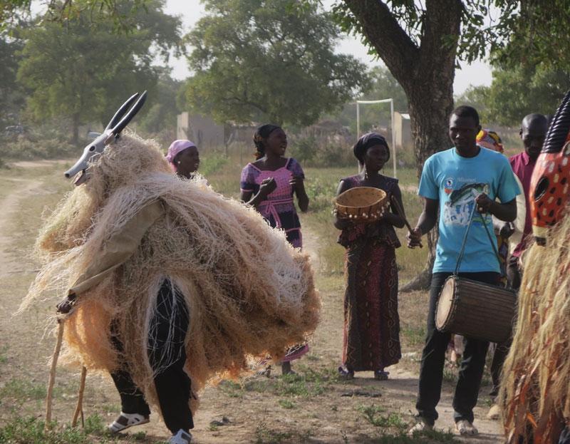 A costume dance in the Kirina village.