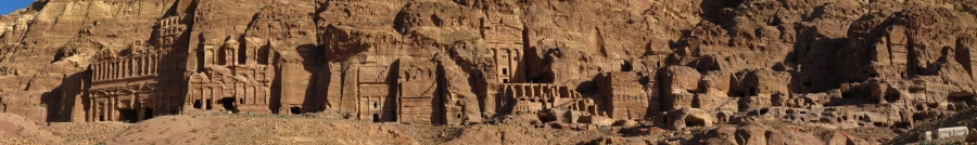 A panoramic view of part of Petra