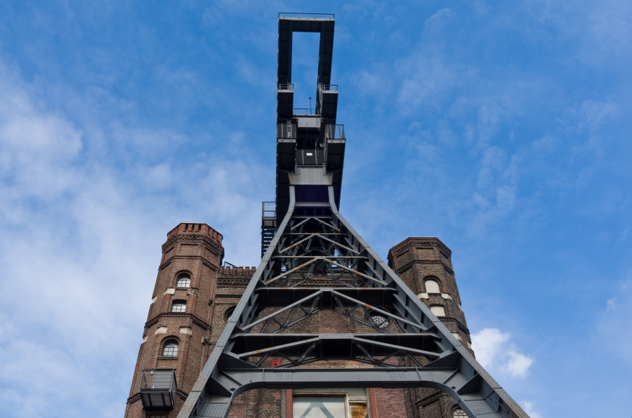 Prosper-Haniel's Malakoff tower was once a shaft tower and is now a historic landmark.
