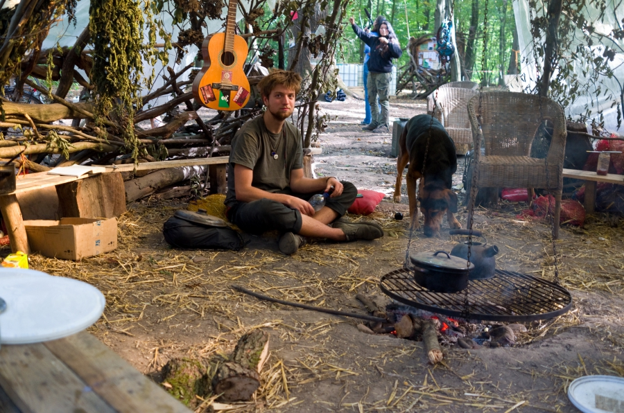 The climate camp in Germany's Hambach Forest,