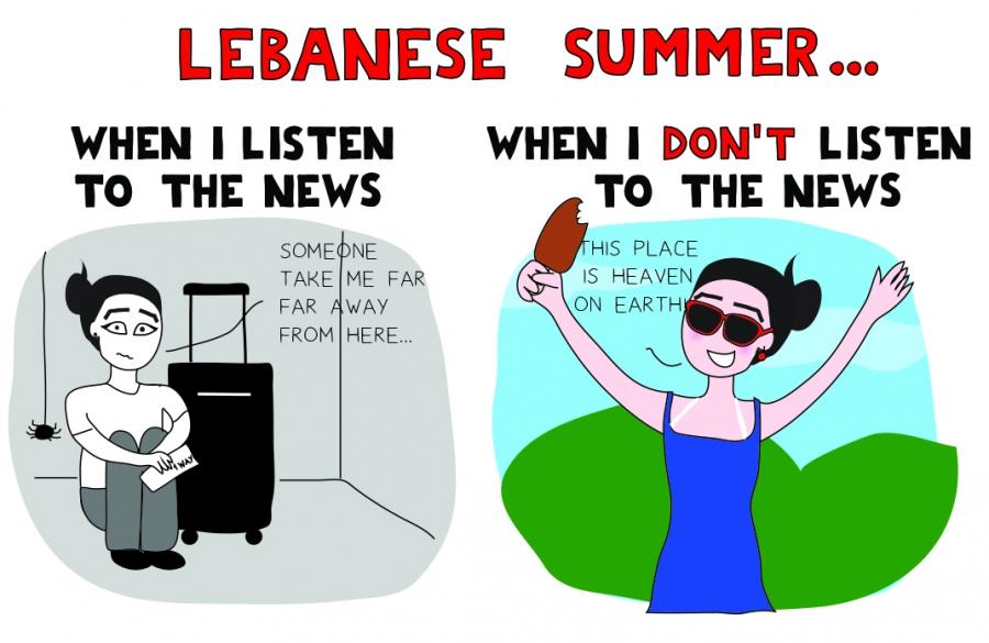 Lebanese editorial cartoon