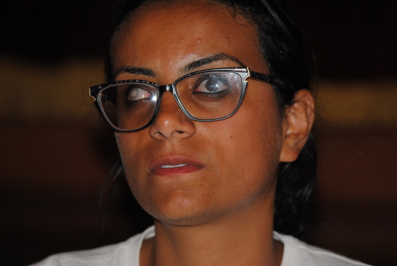Egyptian Activist and human rights lawyer Mahienour El Masry .