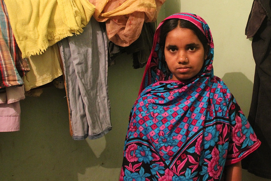 Mahinur Akter, 18, has been turned away from new garment-factory jobs because of the stigma surrounding Rana Plaza survivors.