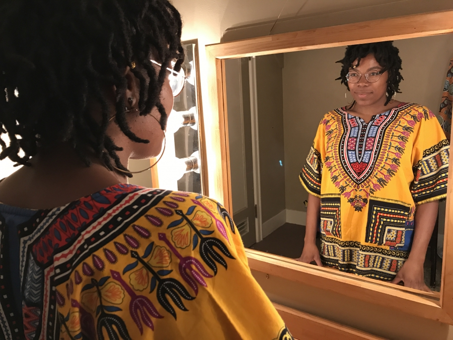 Bokanté's lead singer Malika Tirolien stands backstage before her recent Vancouver show. She's originally from the French-Caribbean island of Guadeloupe and now lives Montreal.