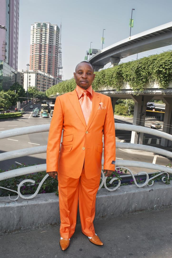 Man in orange, November 11, 2010