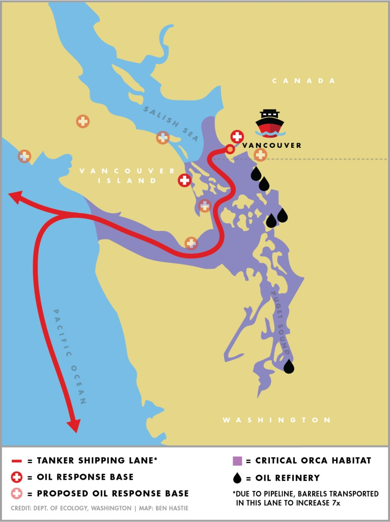 The new TransMountain pipeline would increase oil tanker traffic more than six-fold through narrow and crowded waters shared by Canada and the US.