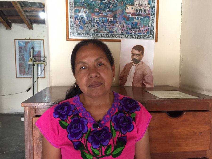 Maria de Jesus Patricio Martinez in her traditional health center.