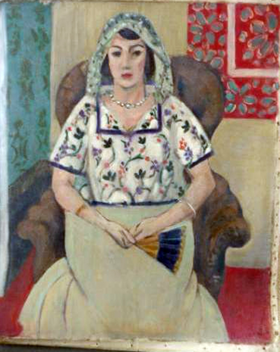 """A Woman Sitting In A Chair"" by Henri Matisse"