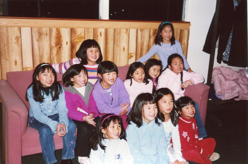 Maya Ludtke and other adopted Chinese girls get together in 2005.