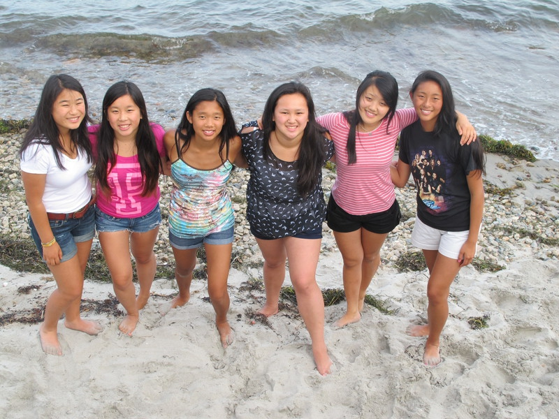 Maya Ludtke and other adopted Chinese girls get together in 2012.