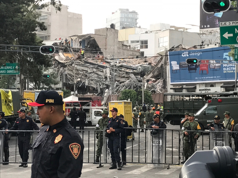 The Mexican government estimates about 40 buildings collapsed in Mexico City following the 7.1 earthquake.