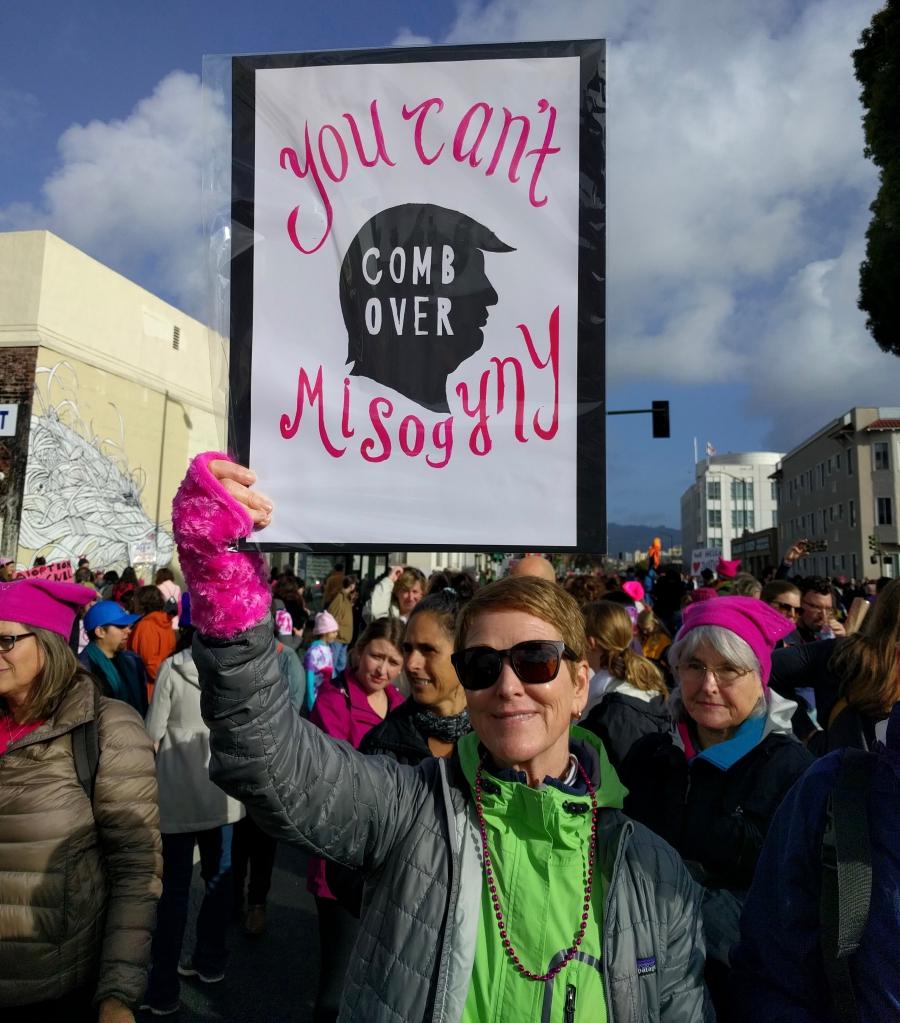 Scene from Oakland, CA Women's March, 1-21-17
