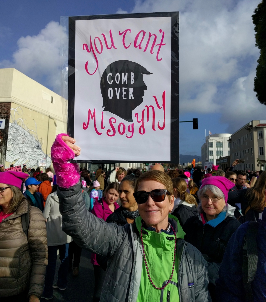 Scene from Oakland, CA Women's March, 1-21-17