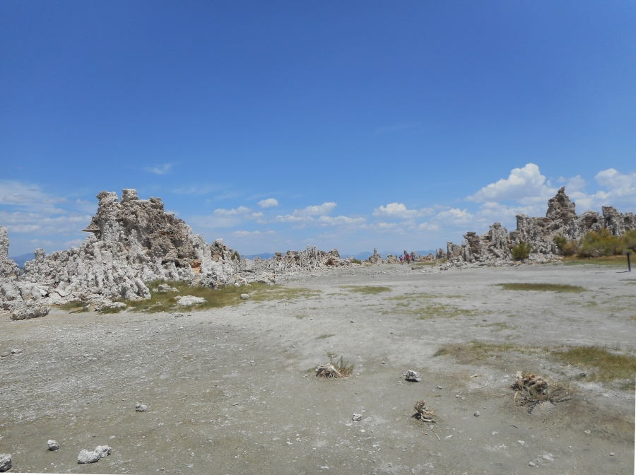 Lake Mono in Mono Country California dried up in 2014 due to the severe drought in California.