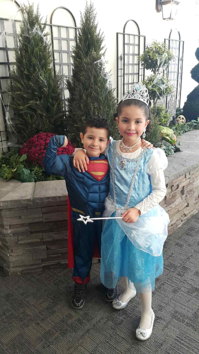 Feras and Houda Mourad celebrating Halloween in Toronto.