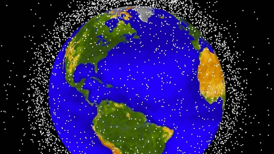 Here are computer generated images of objects in Earth orbit that are currently being tracked. Approximately 95 percent of the objects in this illustration are orbital debris, i.e., not functional satellites.