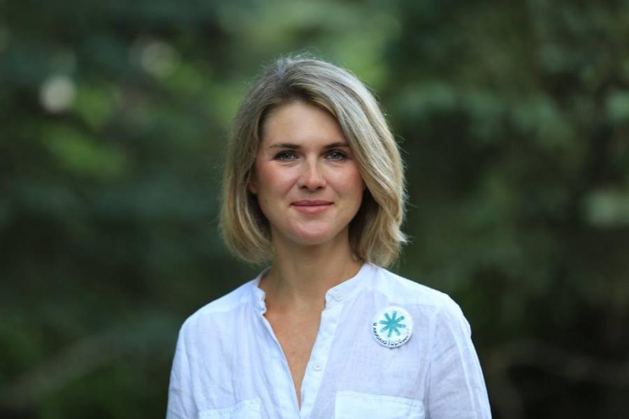 The winning candidate, Natalia Pinus