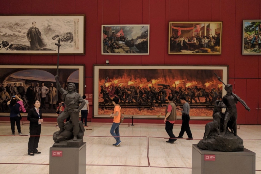 Scene in National Museum, Beijing, China