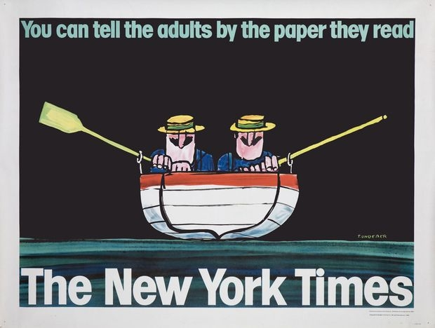 Tomi Ungerer's 1965 ad for the New York Times.
