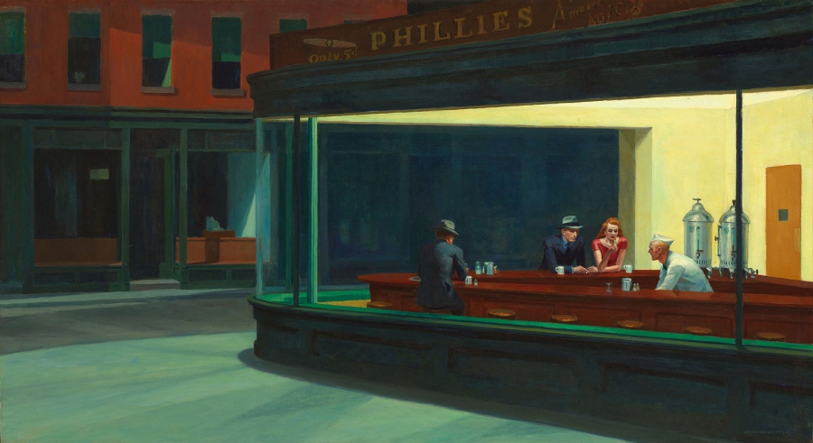 "Edward Hopper, ""Nighthawks"" (1942)"
