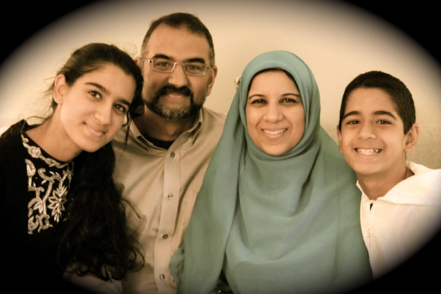 Naazish YarKhan with her husband and children in the US.
