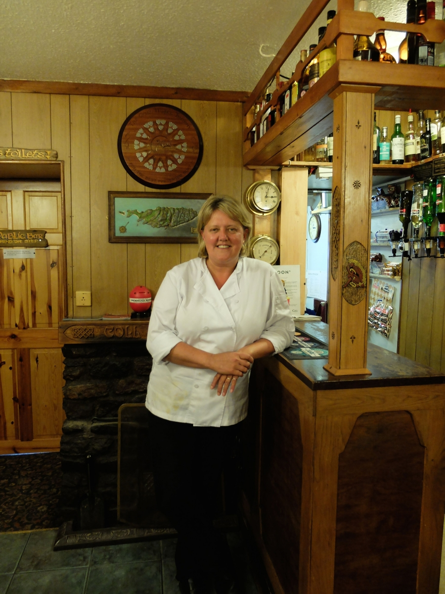 Julie Oliphant owns the Coll Hotel, the only hotel on the island.