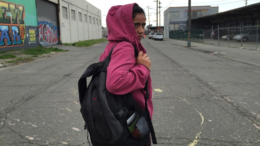 """Sonita was shocked by this neighborhood in West Oakland. """"Are you telling me in America there are places where you can't walk alone at night?"""" she asked."""