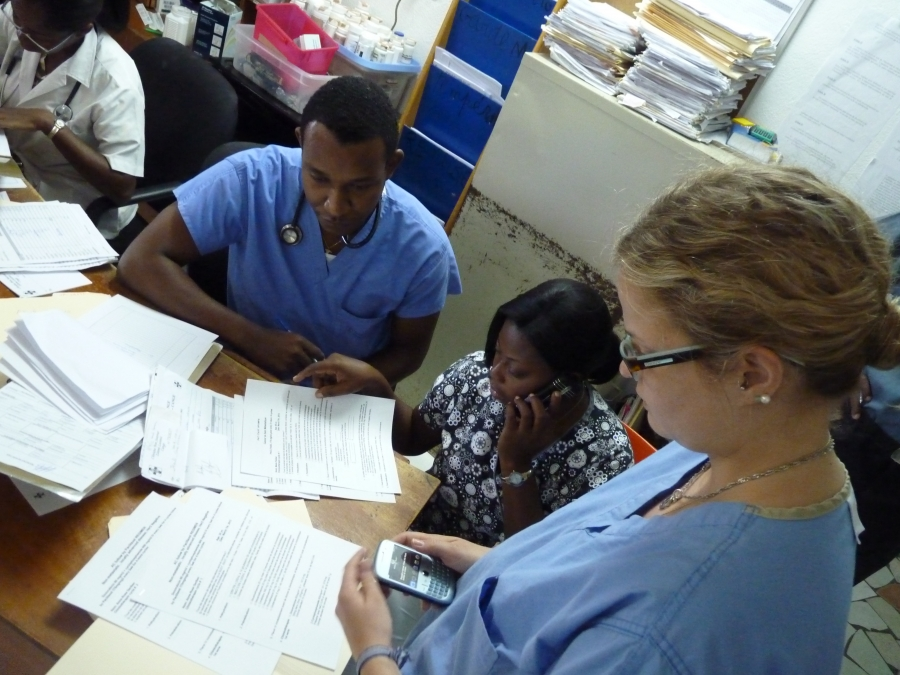 Doctors at Zanmi Lasante's clinic.