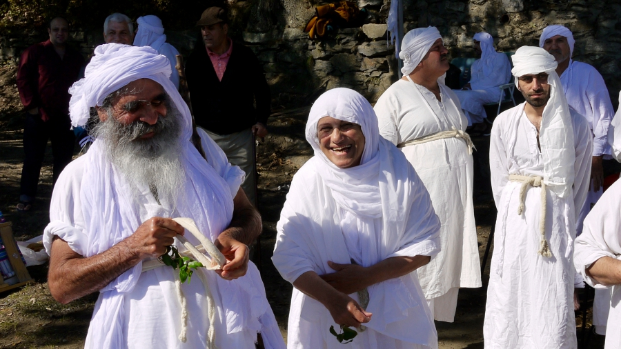Sheikh Salah is the highest ranking Mandaean priest in the world. He was born in Iran and emigrated to Australia.