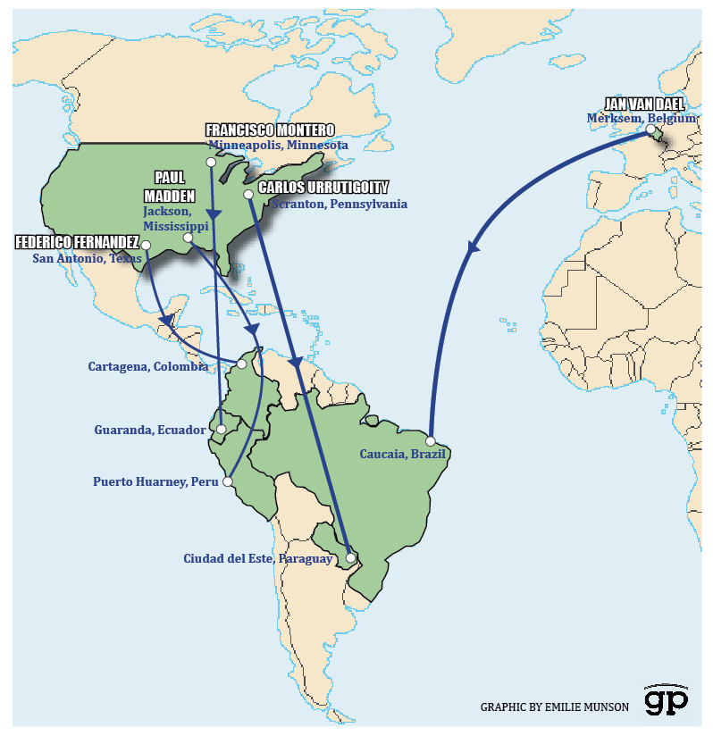 South america has become a safe haven for the catholic churchs this map shows the paths traveled by the priests we tracked after sex abuse allegations were gumiabroncs Gallery