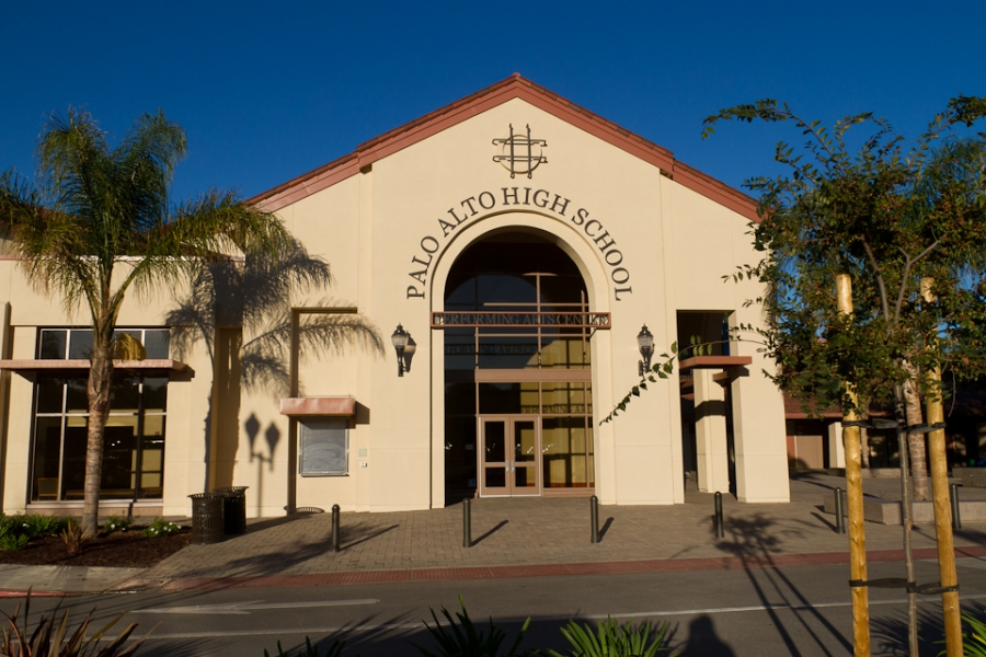 Front of Palo Alto High School building
