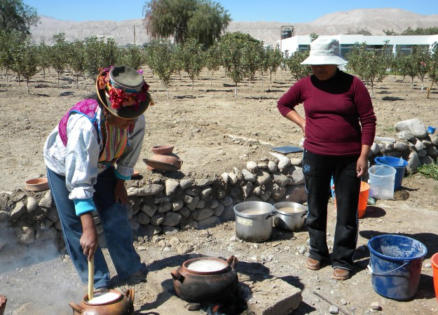 tches of chicha cooling before they are strained and added to a ceramic fermentation jar. Photo courtesy of the Cerro Baul Archaeological Project