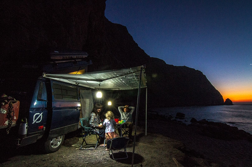 Solar panels and accessories keep our fridge cold, lights on and laptops & camera charged when camped remotely.