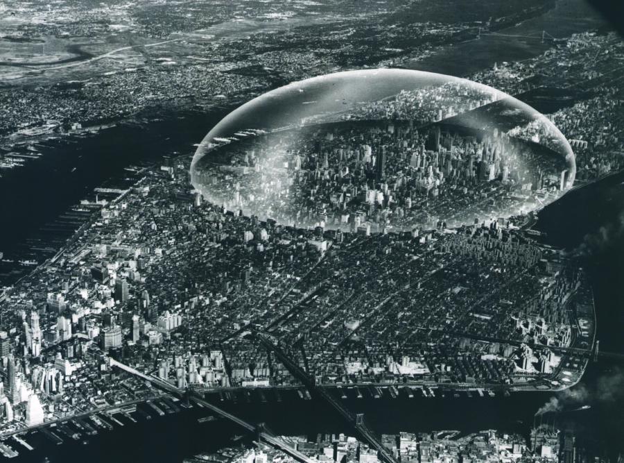 """R. Buckminster Fuller's """"Dome Over Manhattan"""""""