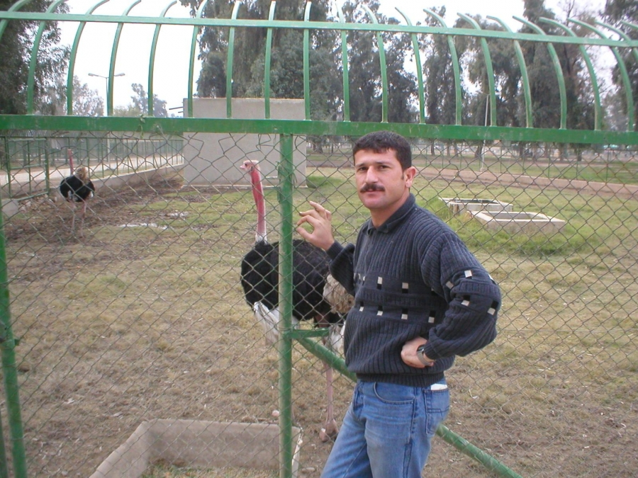 Ayub Nuri at the remnants of Baghdad Zoo.