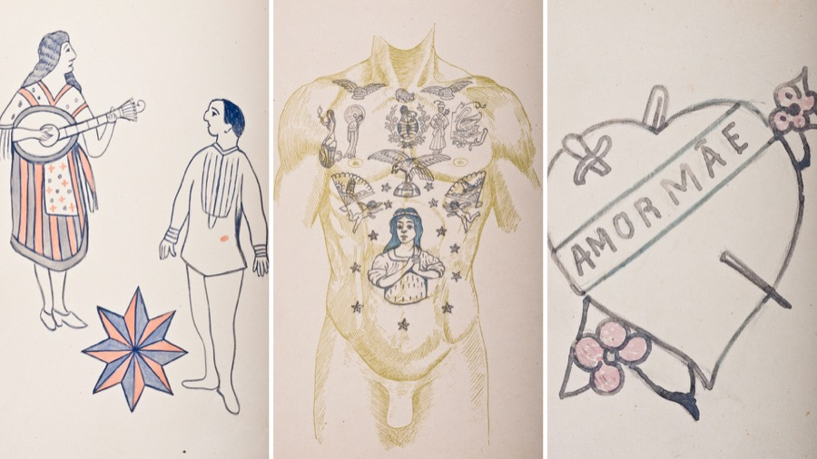 Tattoo designs from the period fell into many categories, including love, animals and patriotism