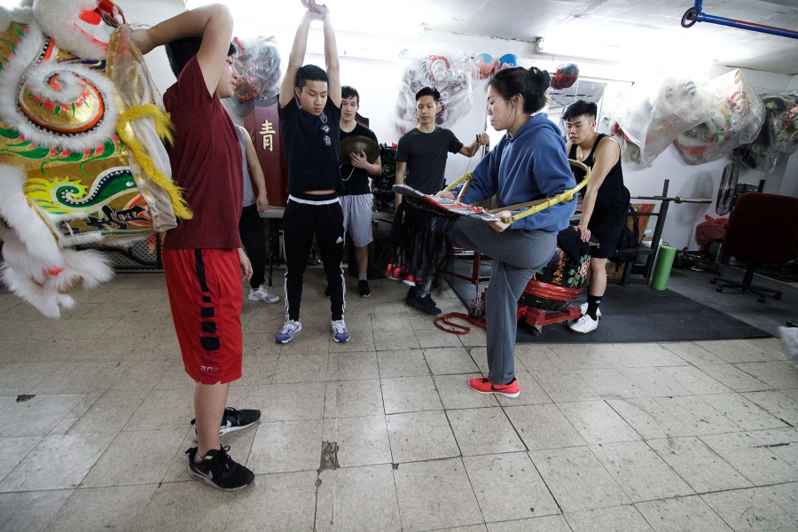 When old lion heads fall apart, instructors use parts of the frame to teach dancers proper technique.