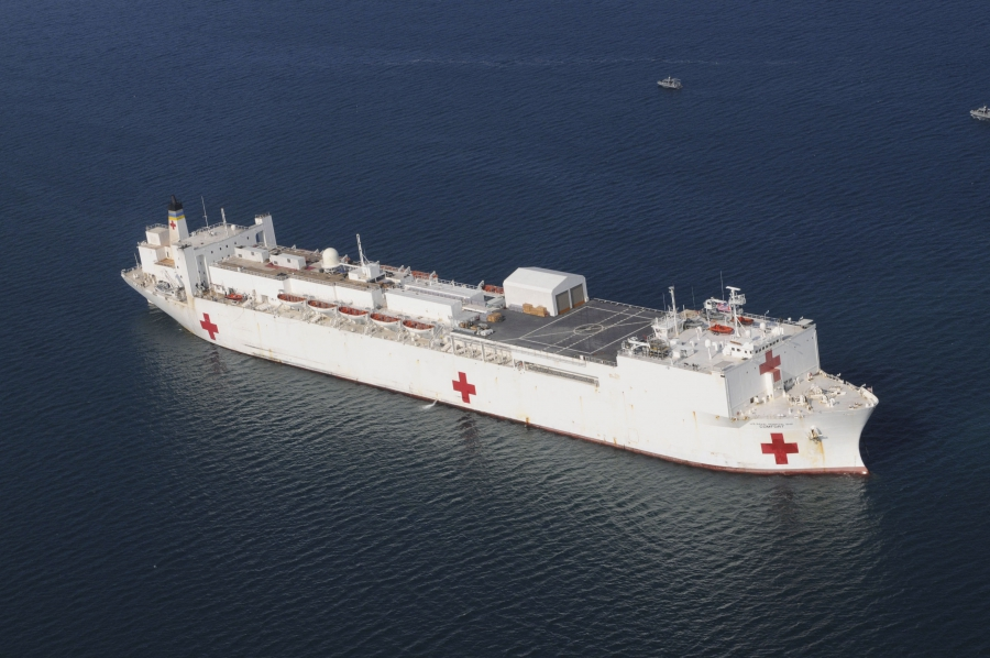 hospital ship USNS Comfort