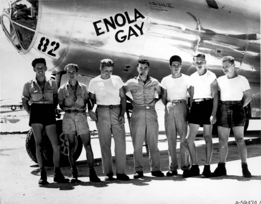 The crew of the Enola Gay