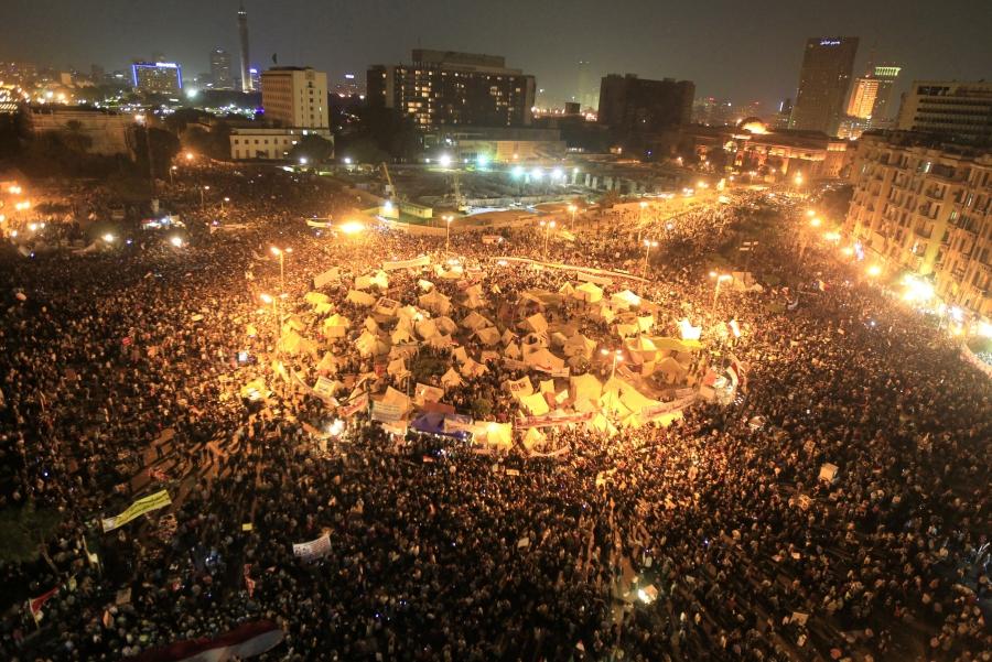 Anti-Morsi protesters gather in Tahrir Square, Cairo, Egypt, Nov. 27, 2012.