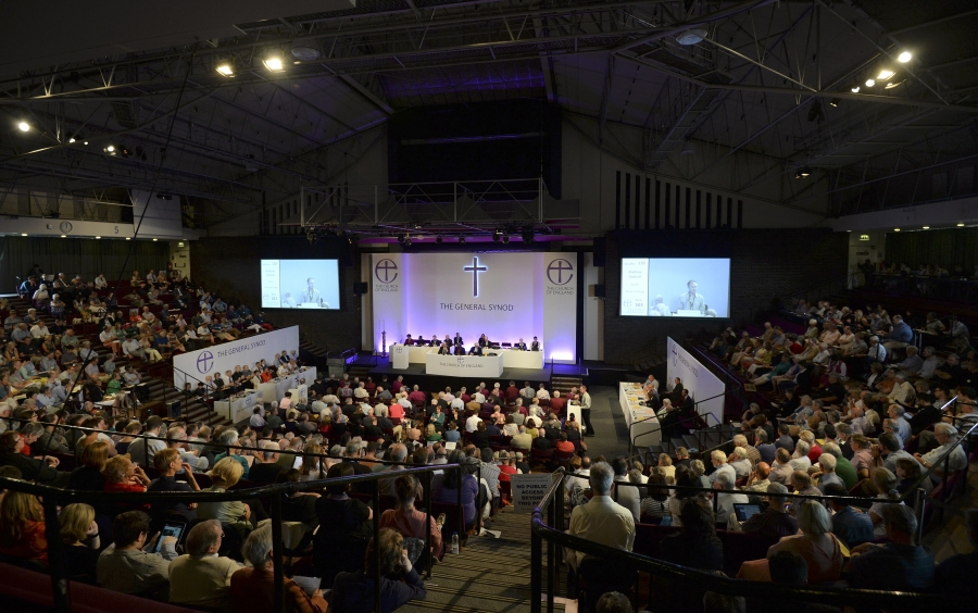 Members of the Church of England's gathered for the 2014 General Synod in York, United Kingdom.
