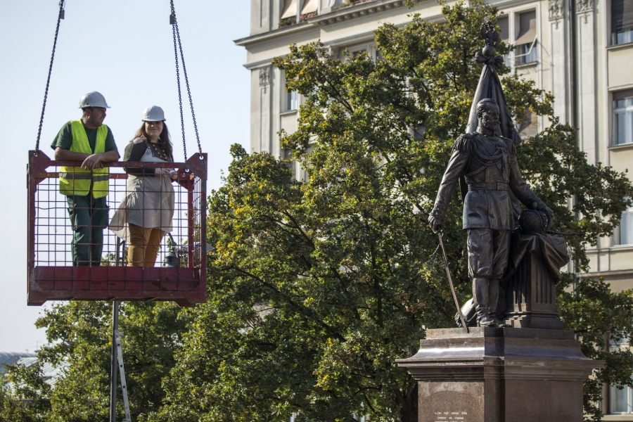 A monument of Czar Nicholas II of Russia in Belgrade, Serbia, on Oct 13, 2014.
