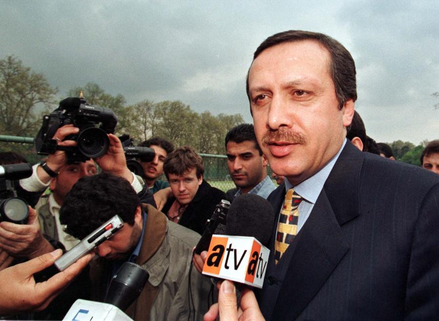Recep Tayyip Erdogan, when he was mayor of Istanbul, on April 21, 1998.