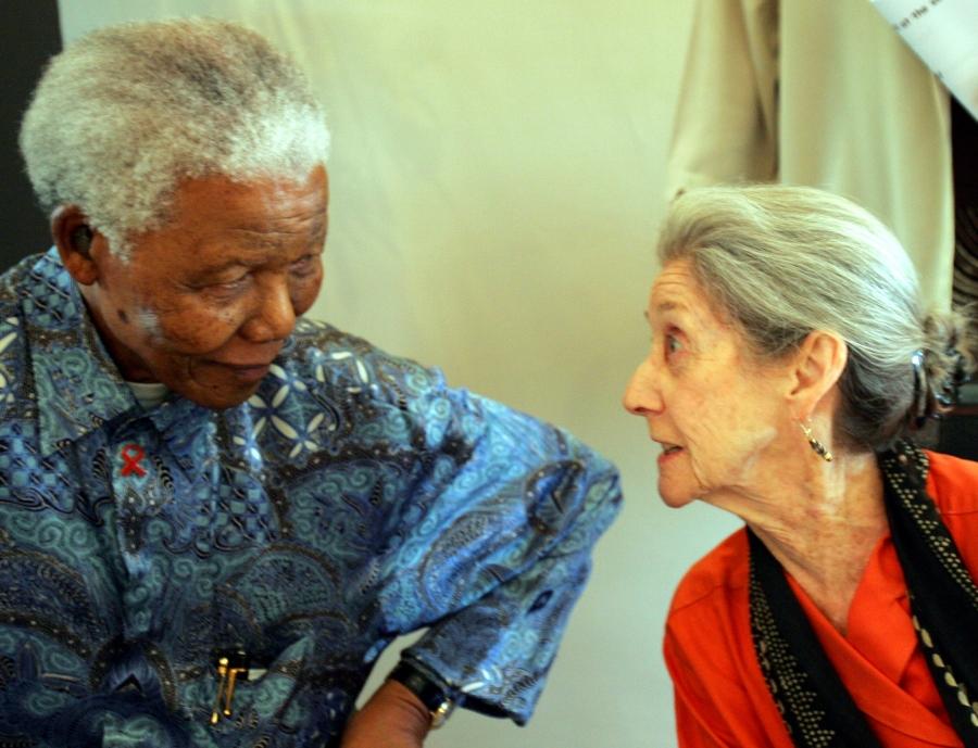 South African writer Nadine Gordimer, with Nelson Mandela in 2005