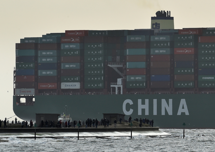 largest container ship in world, CSCL Globe